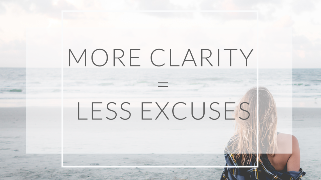 Gk31fi3tr6br8pxpfsqi be more u more clarity less excuses