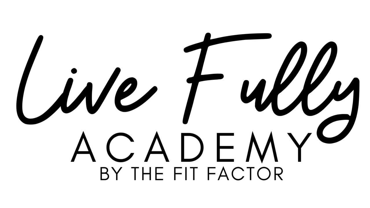 Rvjo6ckstudlhsgzi7ln the fit factor live fully academy logo black transparent