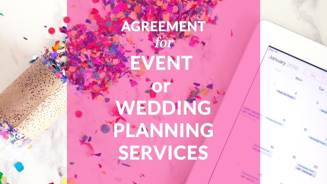 Vl8kykosko3pdxkhuyjw agreement for event or wedding planning services