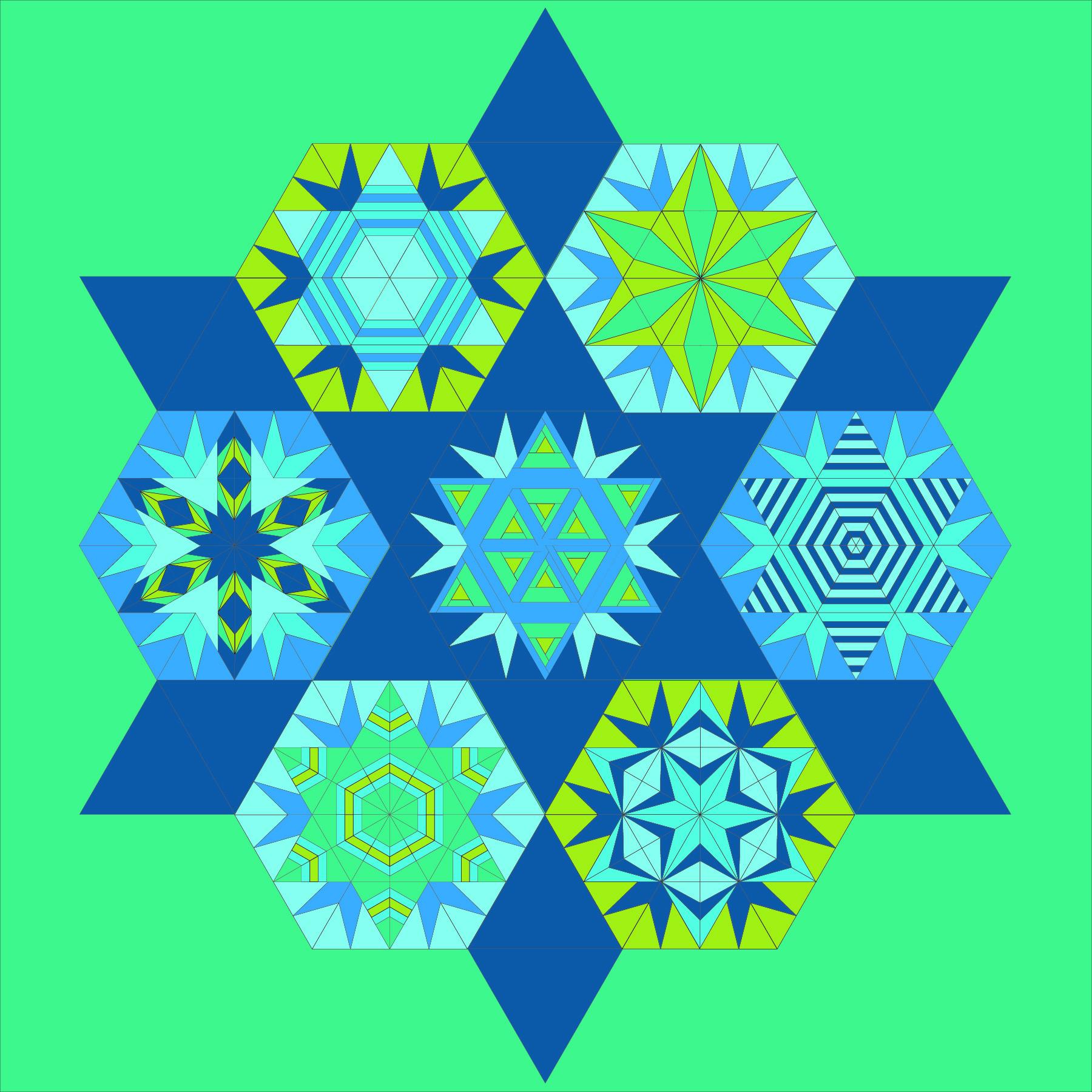 Blue Green Wildflower Mock Up