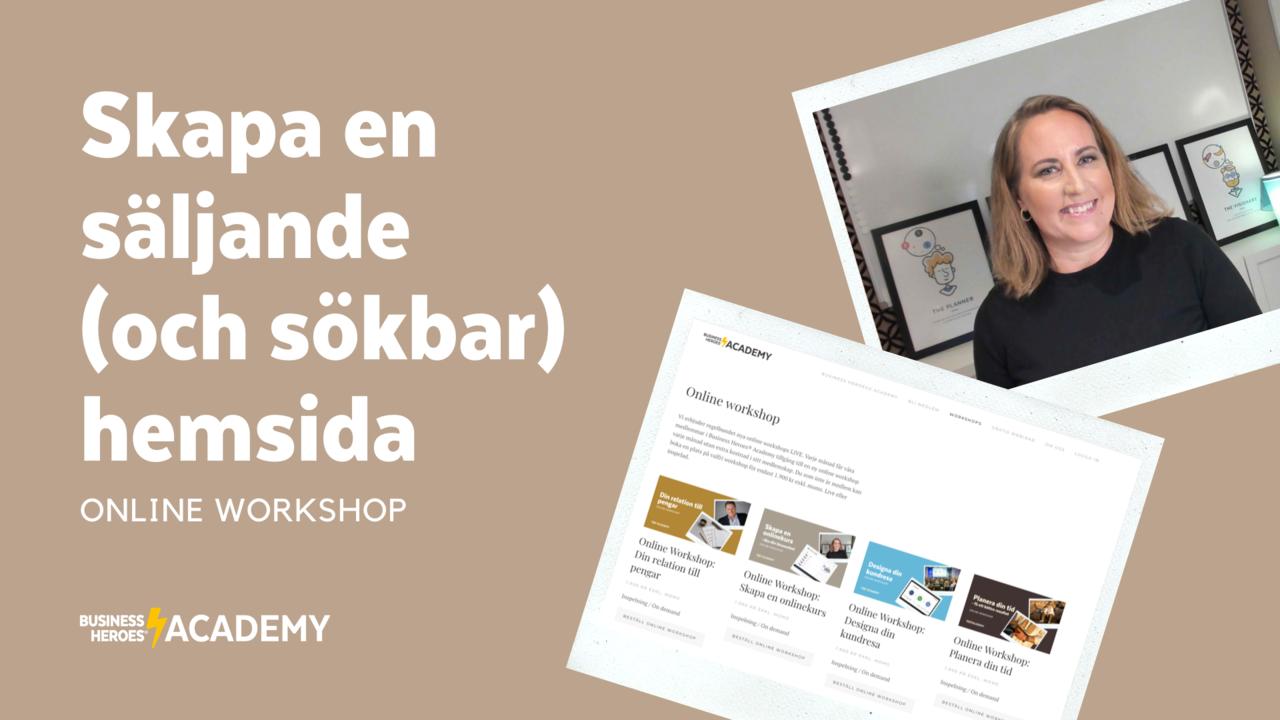 R44dhpkirwkkltujgudn bha skapa en saljande hemsida online workshop