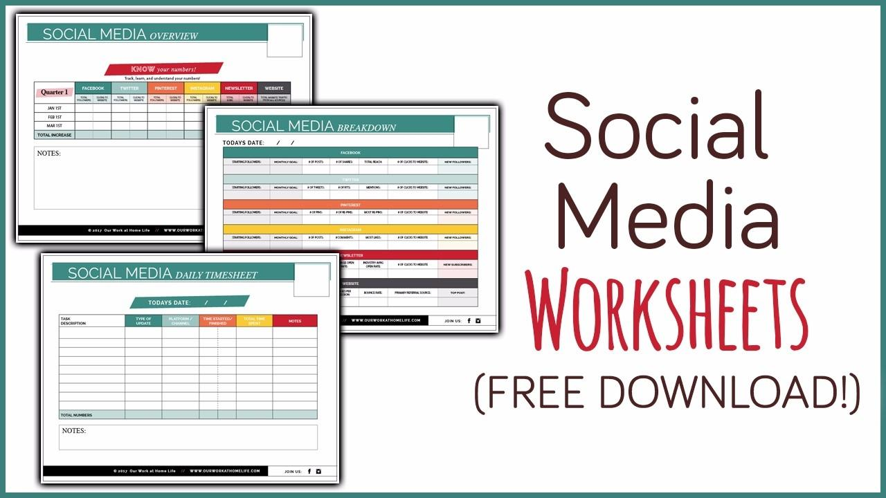 Social Media Worksheets - Free Printables!