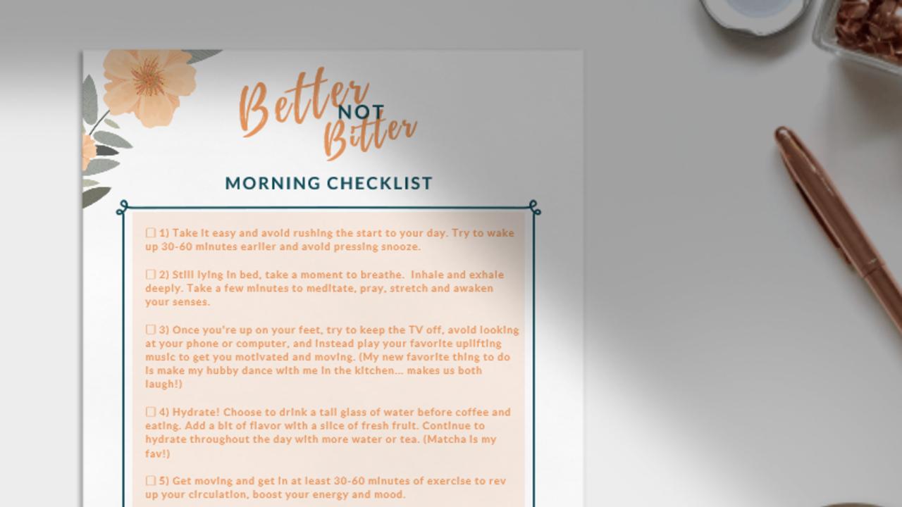 5wnbxtqlrbciojf7wdve morning checklist photo