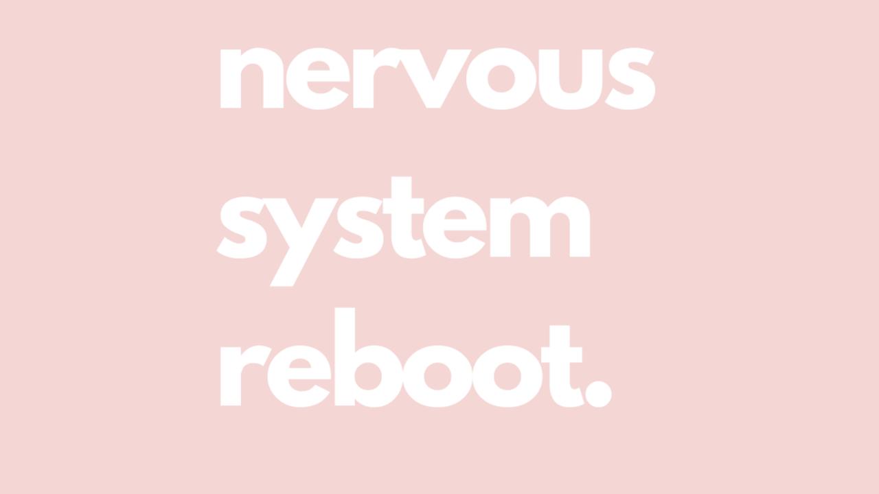 Q0fs8zutt960pxeoek10 nervous system reboot