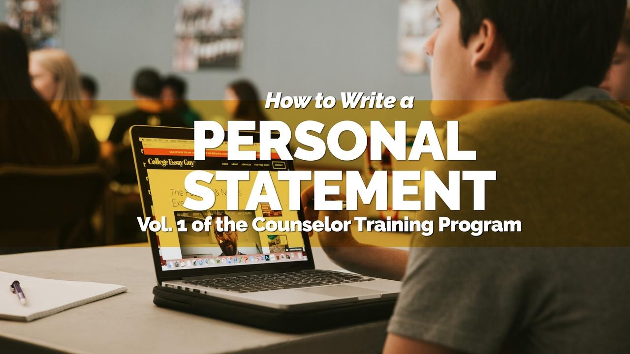 Jxfsp4chrjmqqdxpp0fr how to write a personal statement 2018 video banner   counselor
