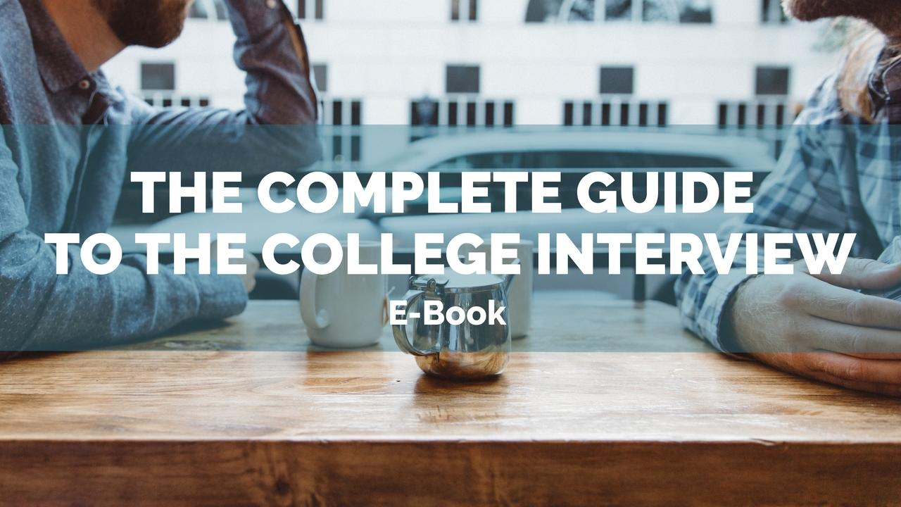 Lrdu6tlwrkib7jvljojg complete guide to the college interview banner