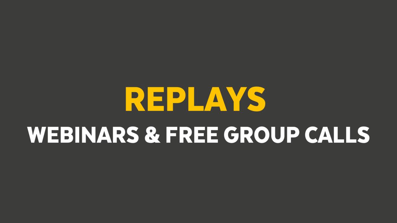 Ysl9dne8tvuxdvlip2gk replays webinar free group calls