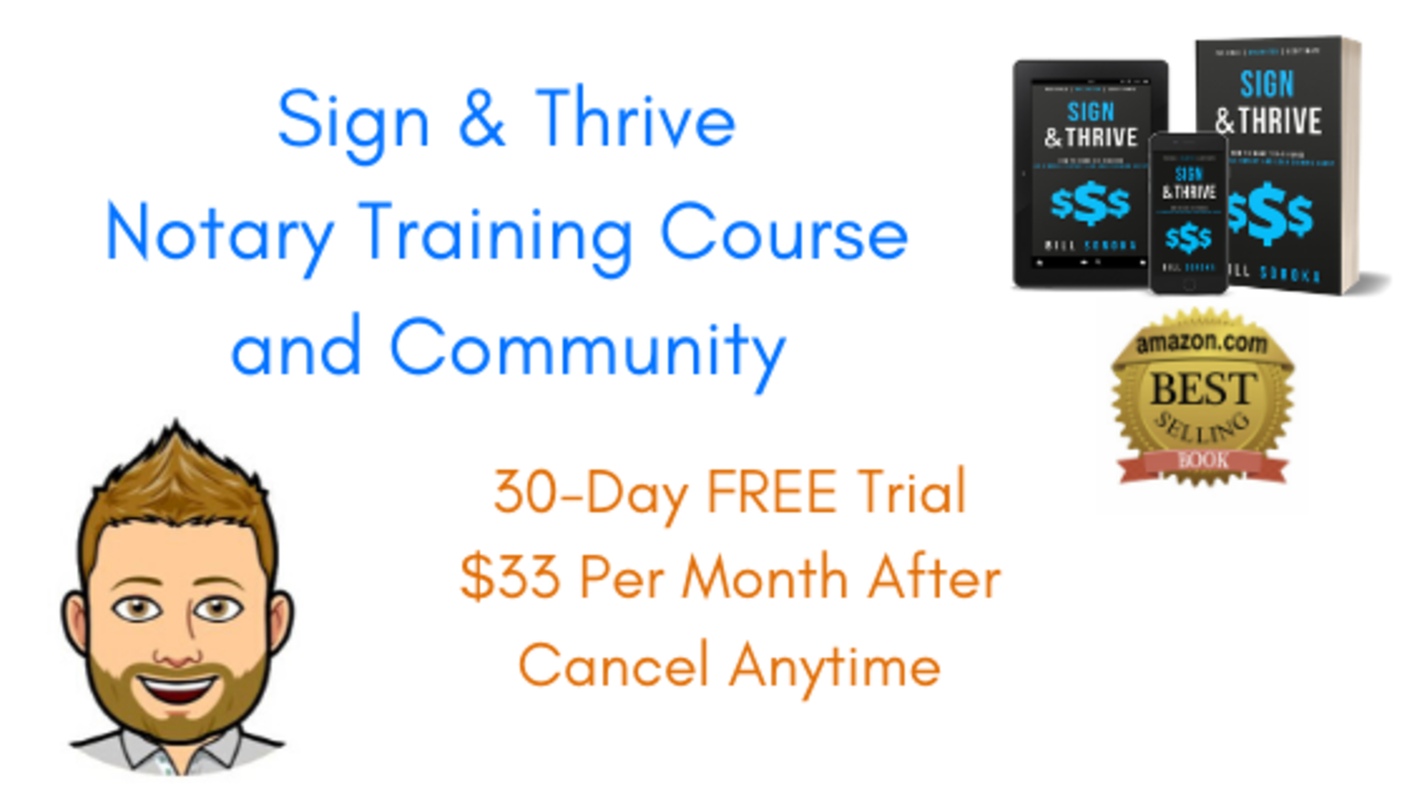 Xyt0xfsfreotq77rzdcj sign thrive notary training course and community