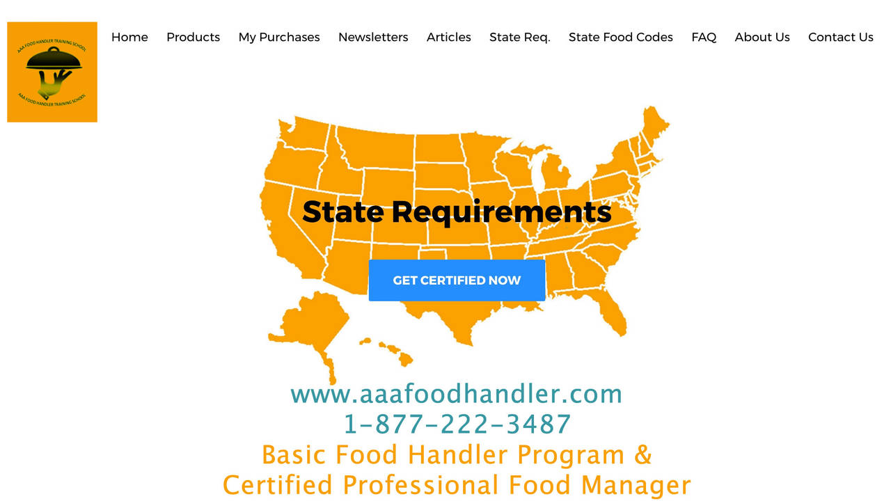 State requirements for food handlers and certified food managers req xflitez Gallery