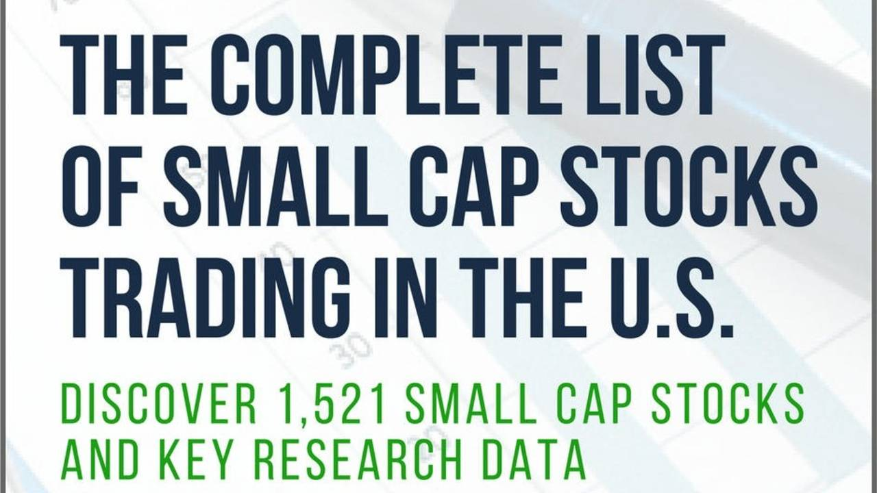 Complete Small Cap Stocks List | Free PDF & Excel Download (2019)