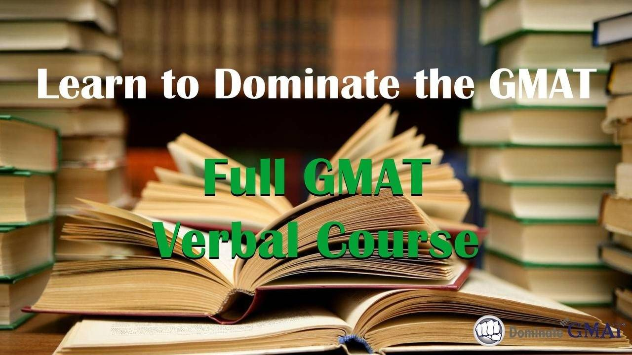 GMAT preparation Online, Verbal courses packages