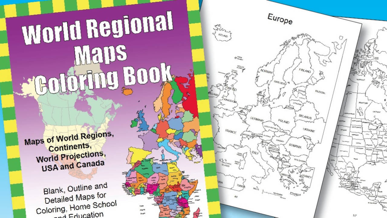 World regional maps pdf coloring book for classrooms education gumiabroncs Gallery