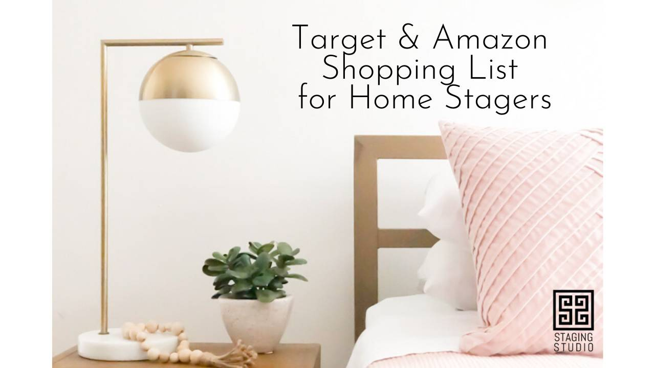 Target And Amazon Shopping List For Home Stagers