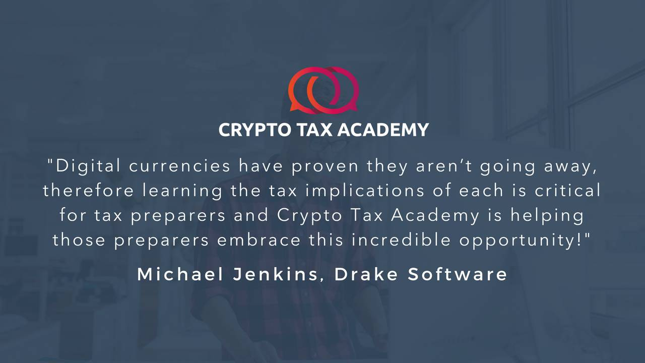 Crypto Tax Certification | Cryptocurrency Tax Training | Crypto Tax