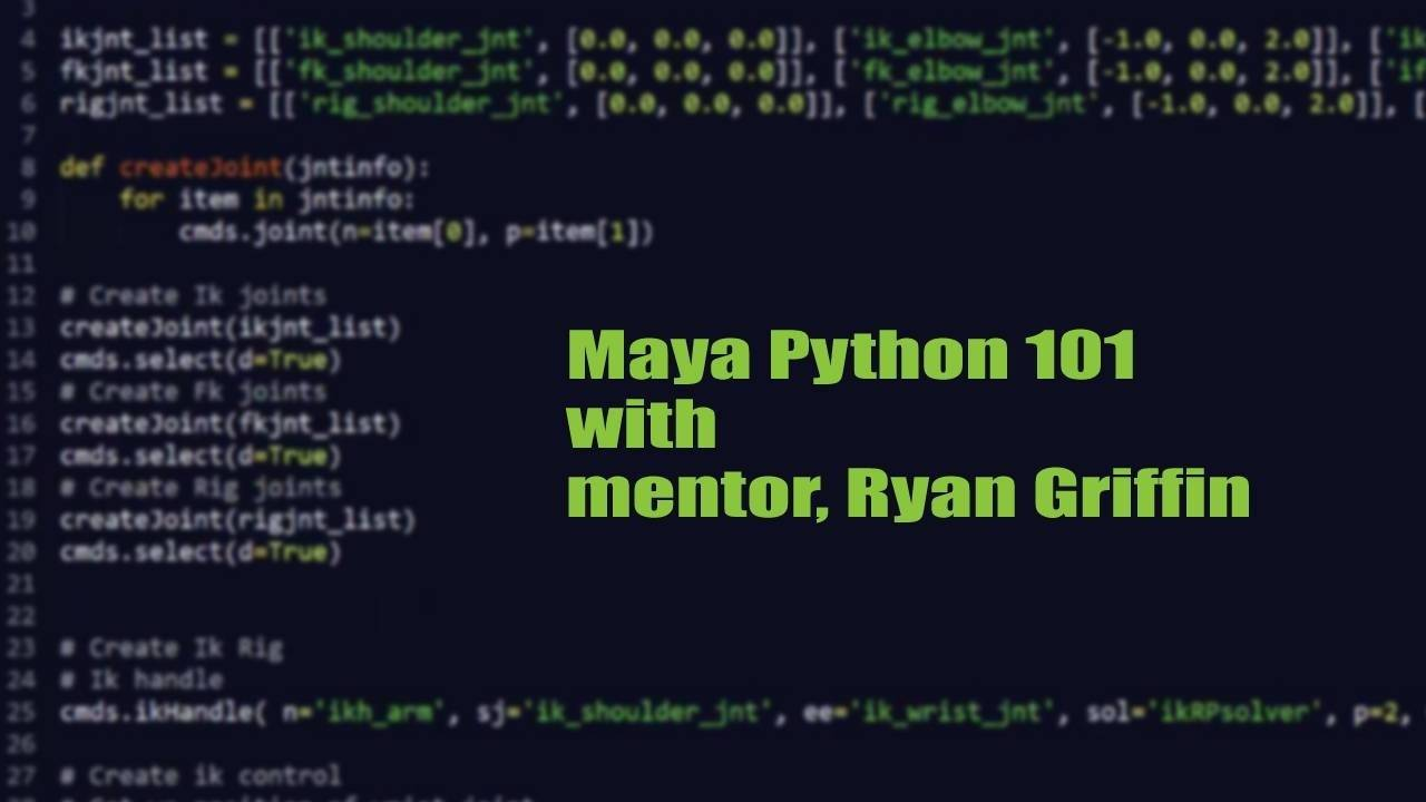 Rigging Dojo Maya Python 101 Video Course