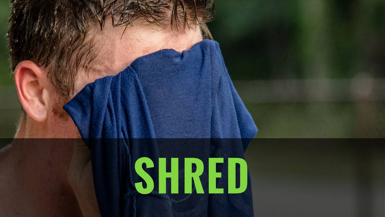 End shred: leaning. cutting. losing fat. with a barbell.