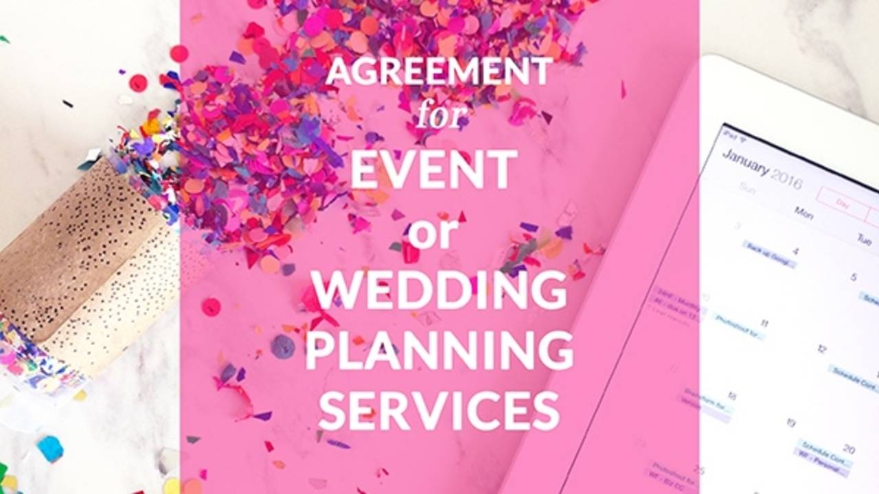 Event and Wedding Planner Contract Template – Event Coordinator Contract Sample