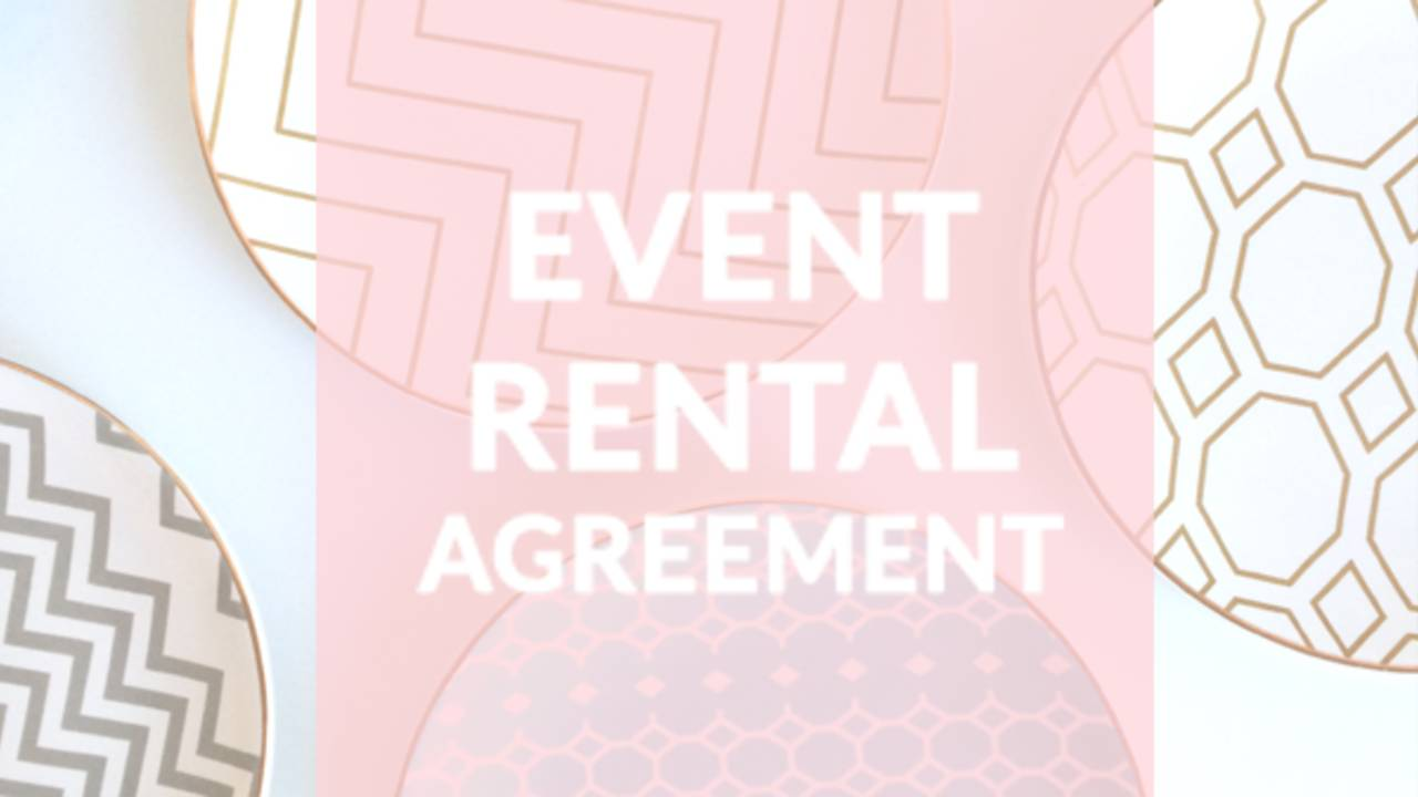 Event Rental Agreement Contract Template