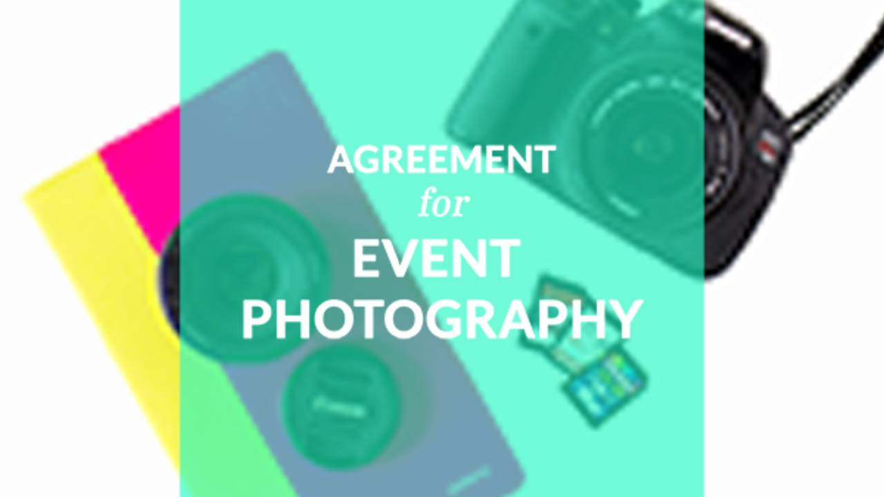 Agreement For Event Photography Contract Template