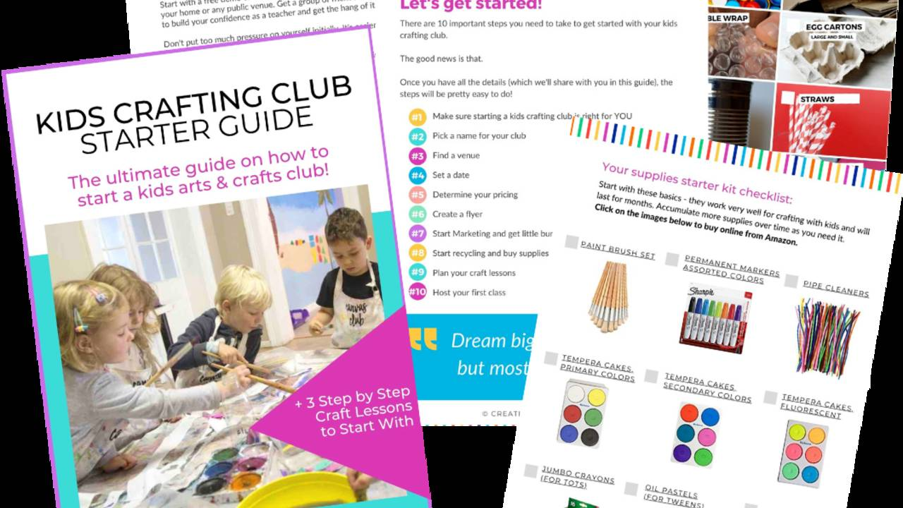 The Ultimate Kids Crafting Club Starter Guide
