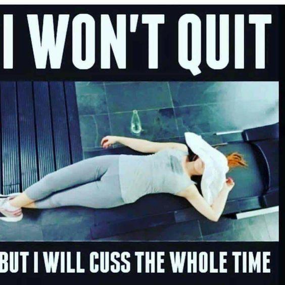 exercise is hard meme