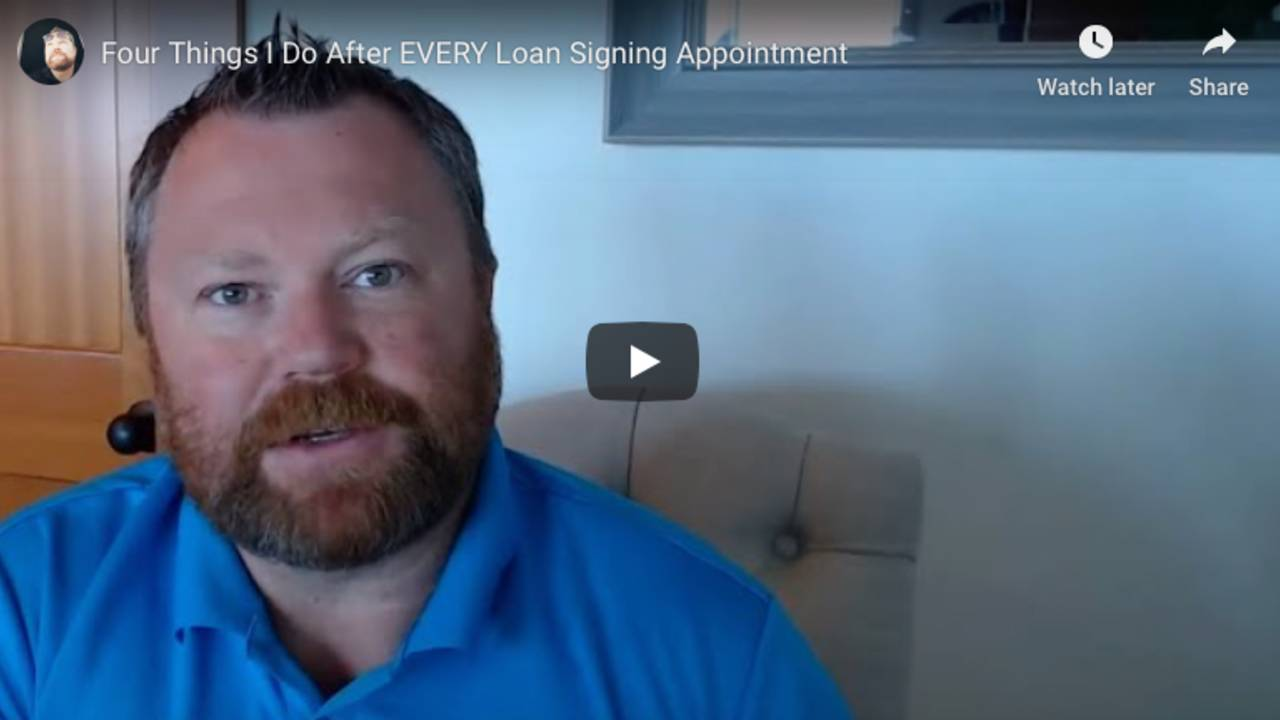 Four Things I Do After EVERY Loan Signing Appointment