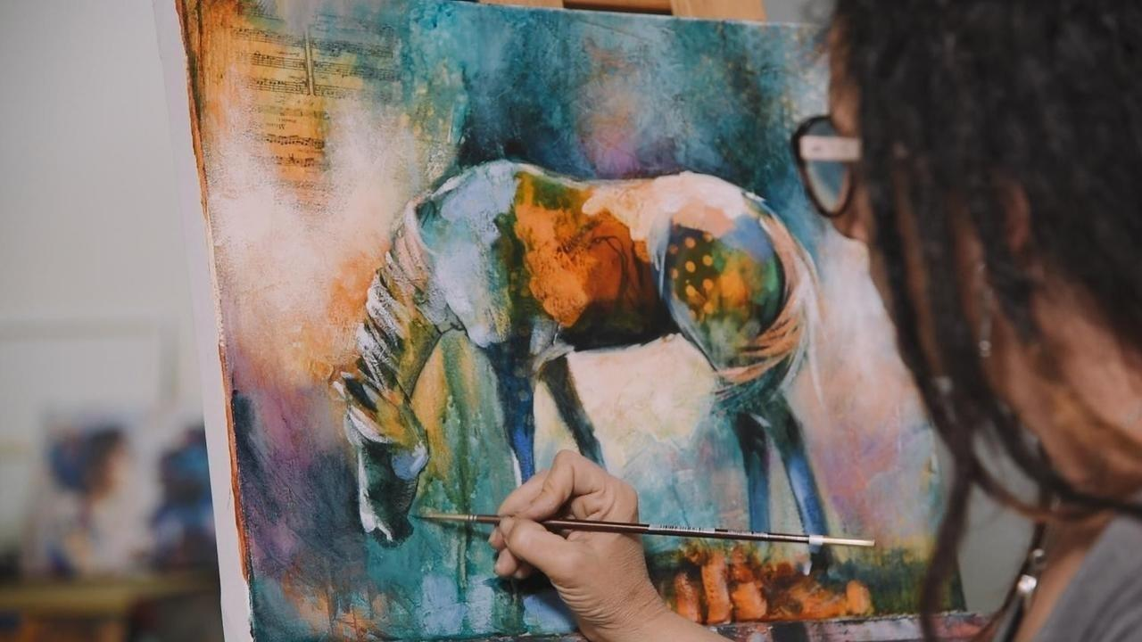 mixed media ink course