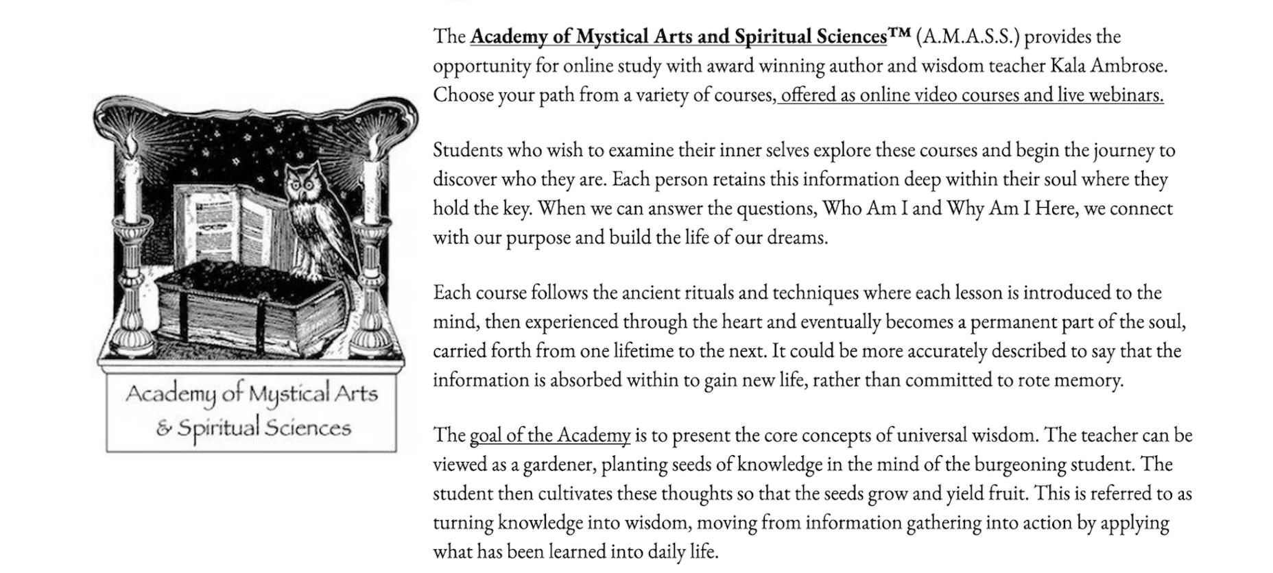 Academy of Mystical Arts and Spiritual Sciences