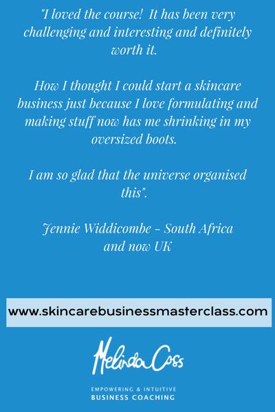 Skincare Business Masterclass Online