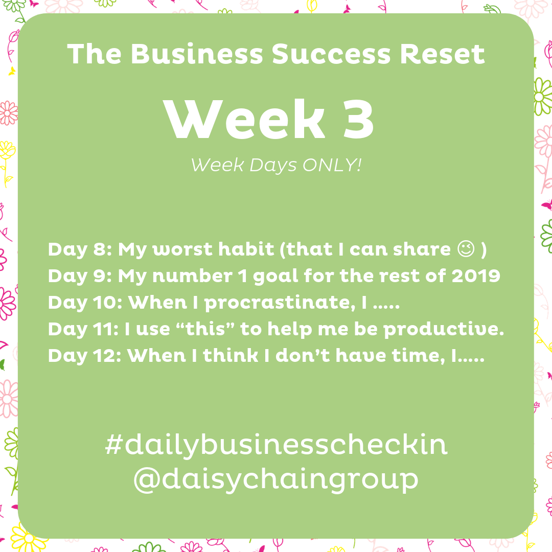 Business Success Reset - August Challenge