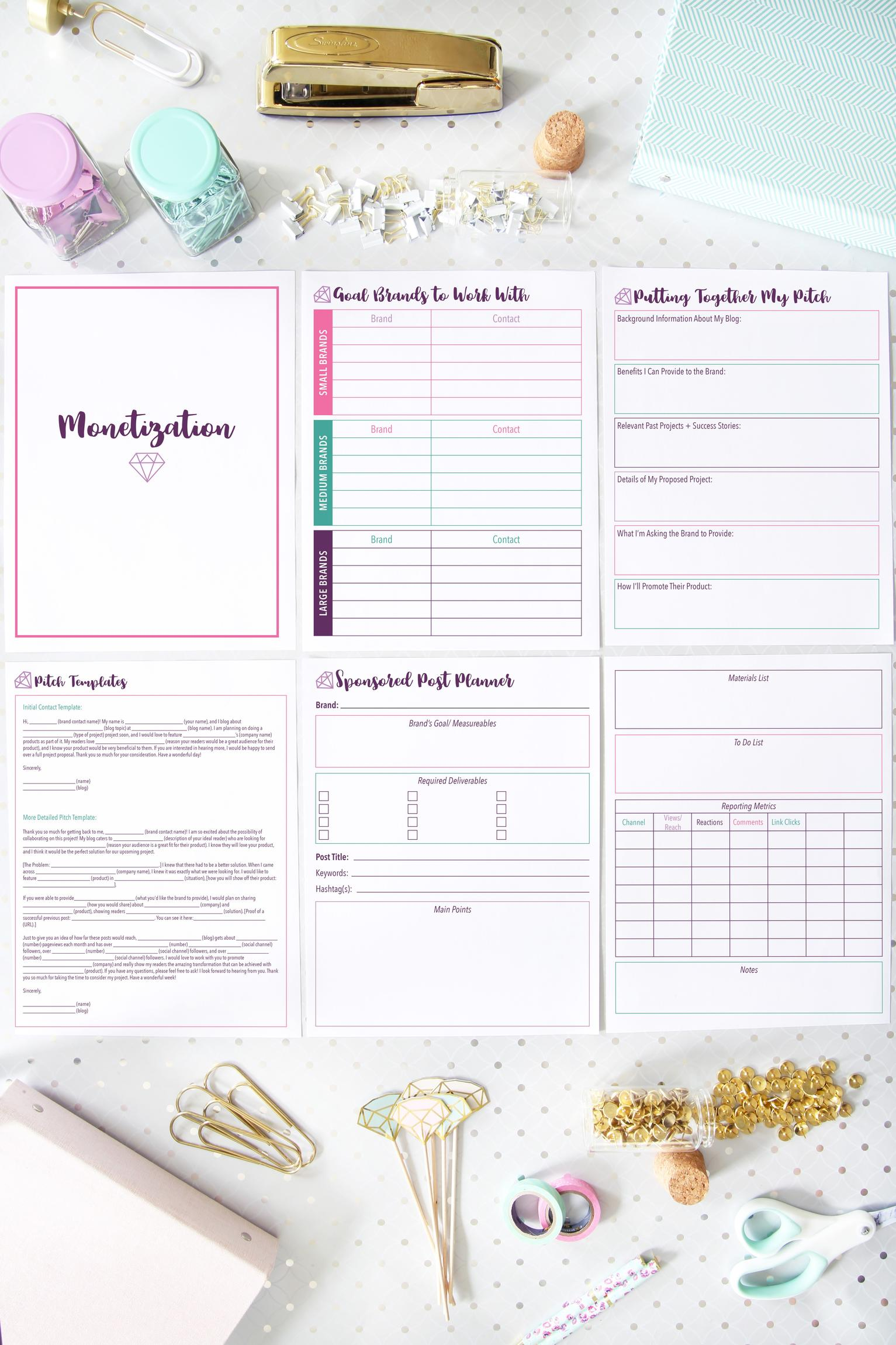photo regarding Printables Blog referred to as Luxurious Running a blog Binder Printables