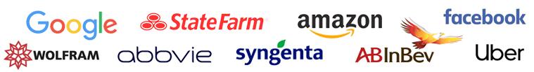 Logos of top corporations
