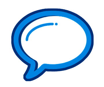Speech bubble graphic