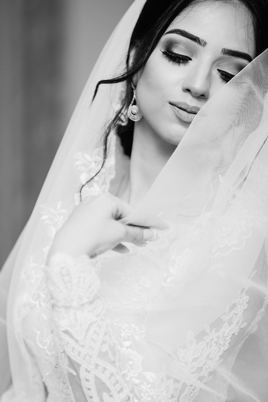 Wedding bride black and white