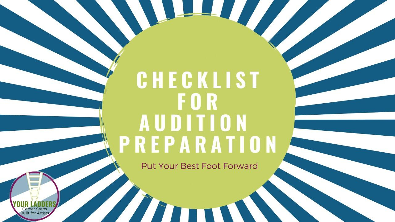 Checklist for Audition Prep
