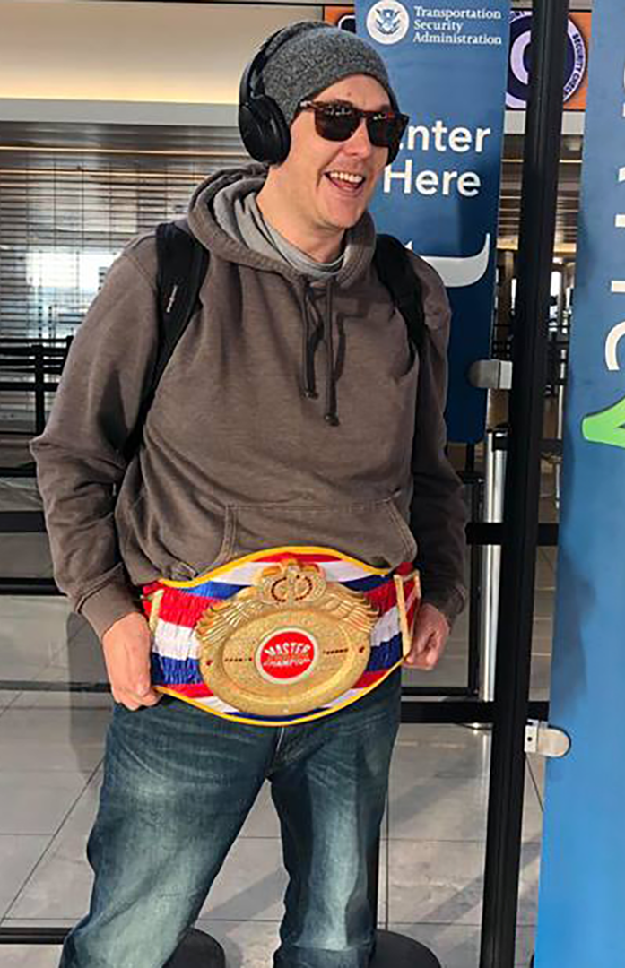 Curt Maly With The BELT!