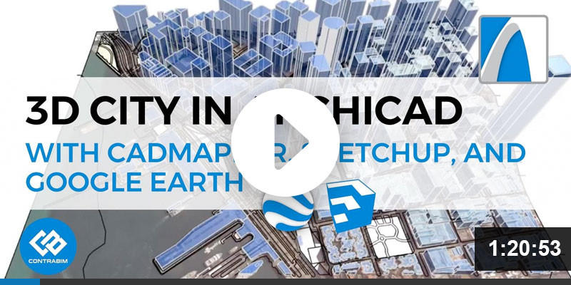 3D City in ARCHICAD using CADMAPPER