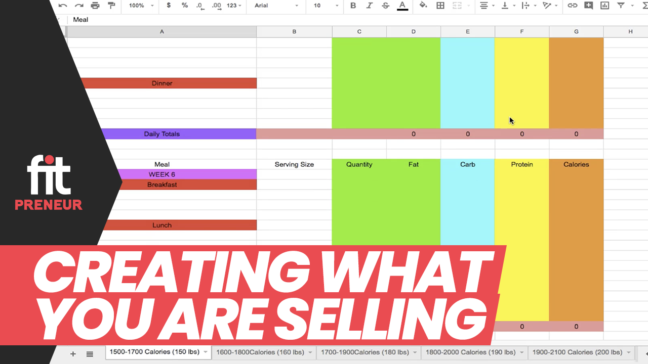 Creating What You Are Selling