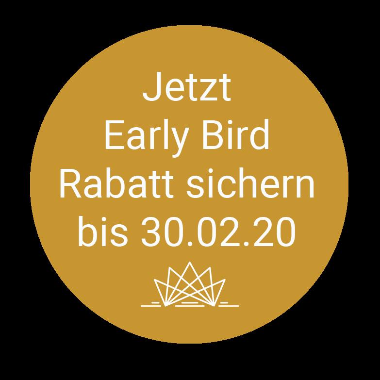 Early Bird Rabatt nur für kurze Zeit