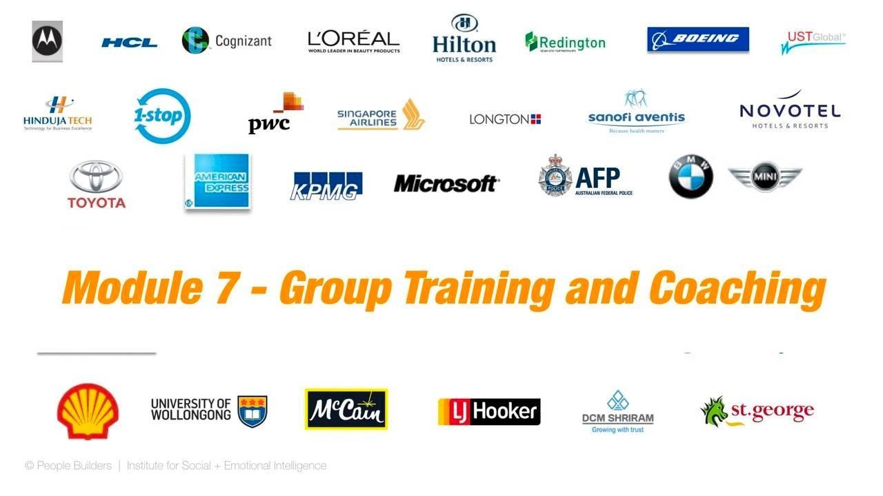Group training and coaching emotional intelligence