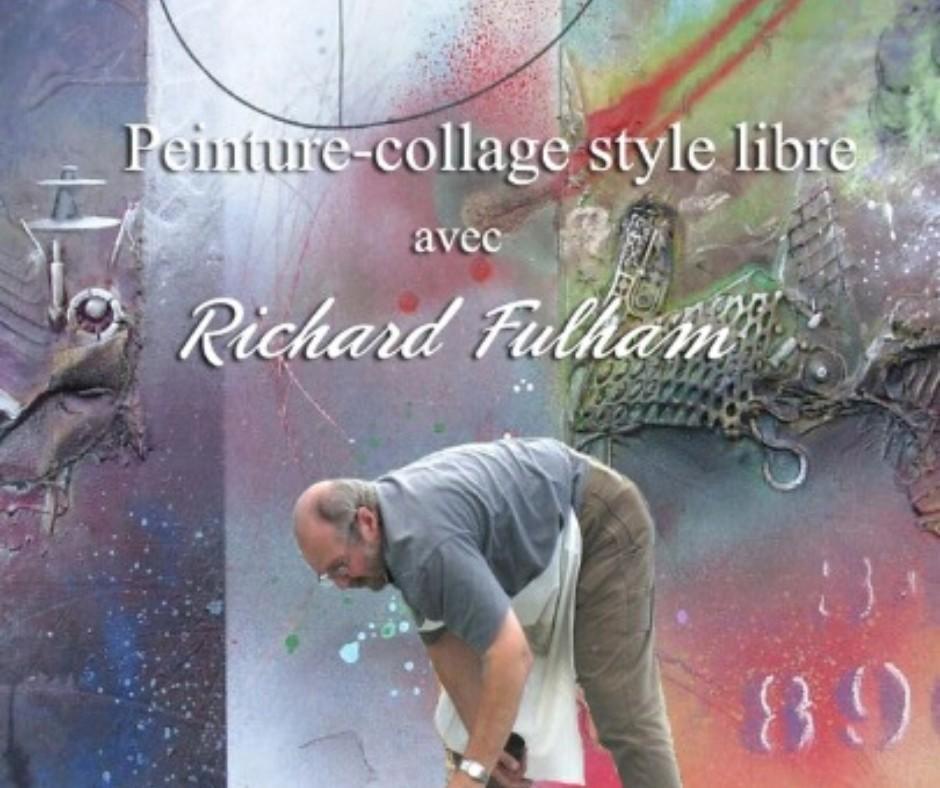 Peinture collage avec Richard Fulham
