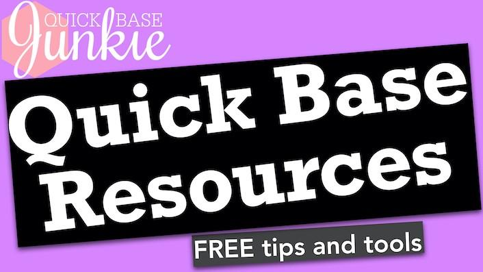 Quick Base Junkie Resources