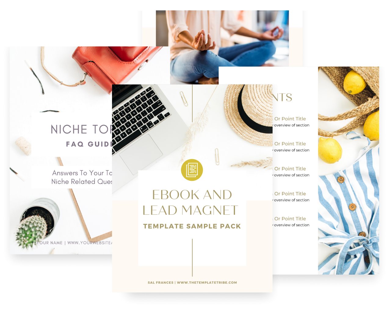 Free eBook & Lead Magnet Canva Template Pack
