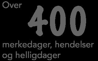 400 merkedager