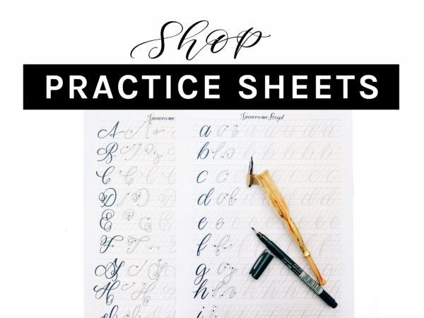 Lettering Practice Sheets
