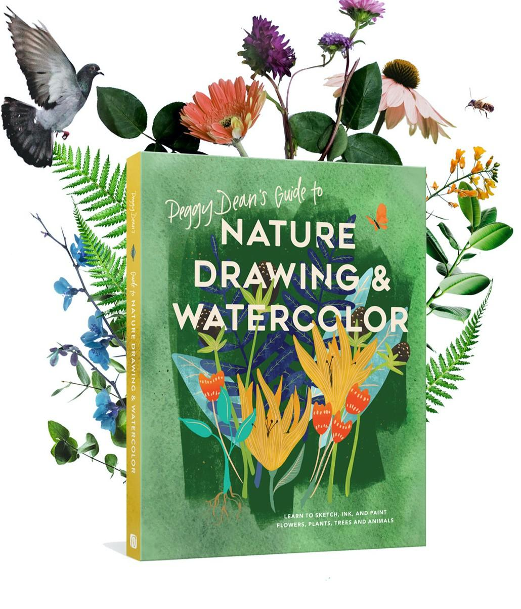 Nature Drawing and Watercolor Book