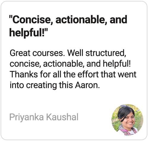 Startup Courses review by Priyanka Kaushal