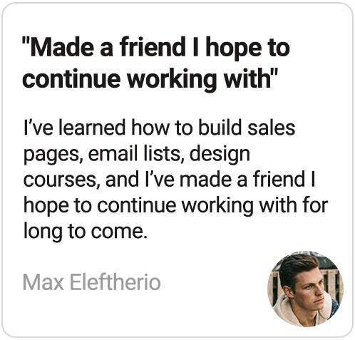 Startup Courses review by Max Eleftherio