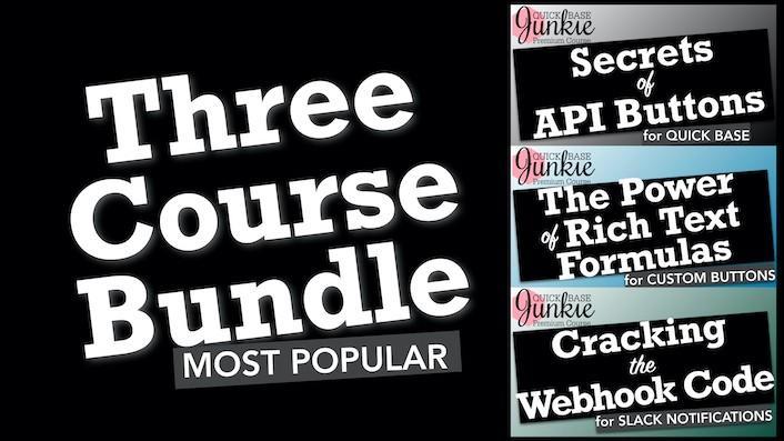 Quick Base Junkie 3 Course Bundle
