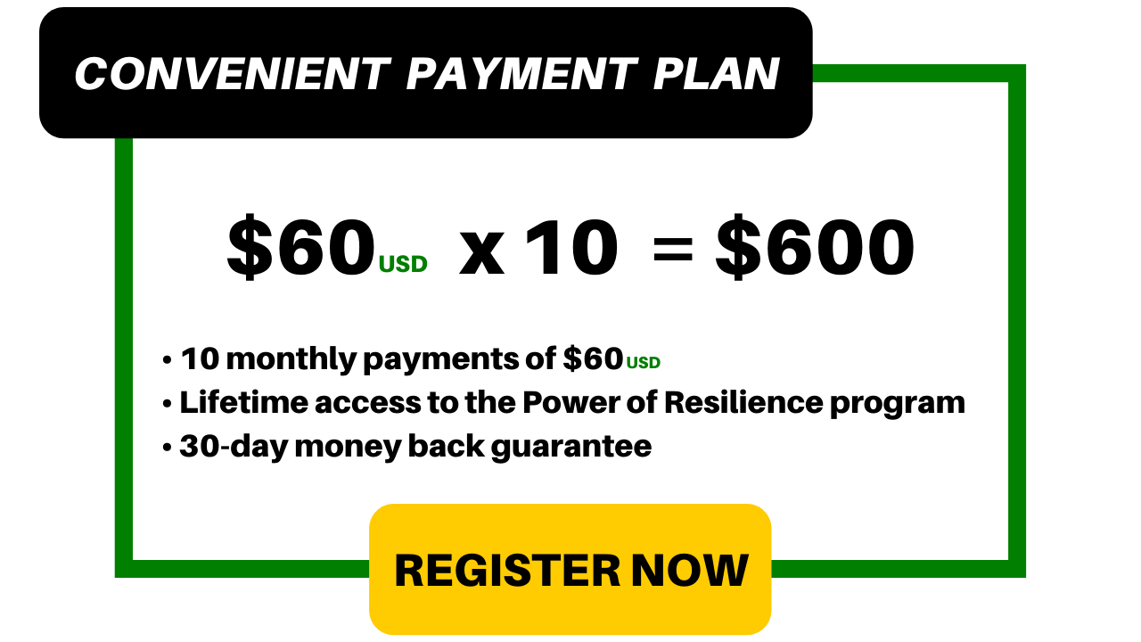 Payment Plan: $60/month for 10 months